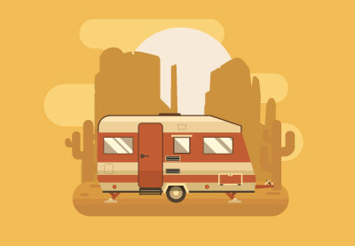 How to Create a Golden Camping Trailer in Adobe Illustrator