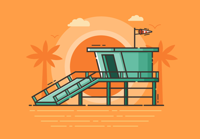 How to Create a Beach Guard Tower Illustration in Adobe Illustrator